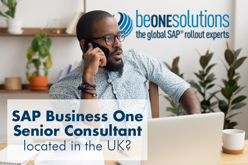 Be one solutions SAP Business One Senior Consultant