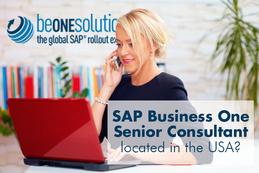 Be one solutions SAP Business One Senior Consultant in USA